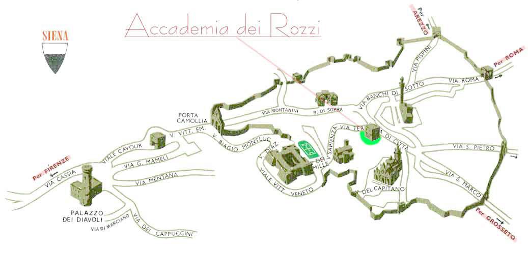 mappa accademia di siena