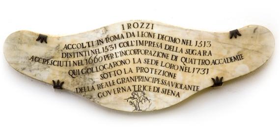 storia Accademia dei rozzi di siena