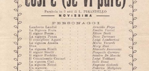Locandine storiche 1919-20-21