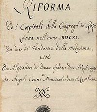 Riforma Capitoli 1561
