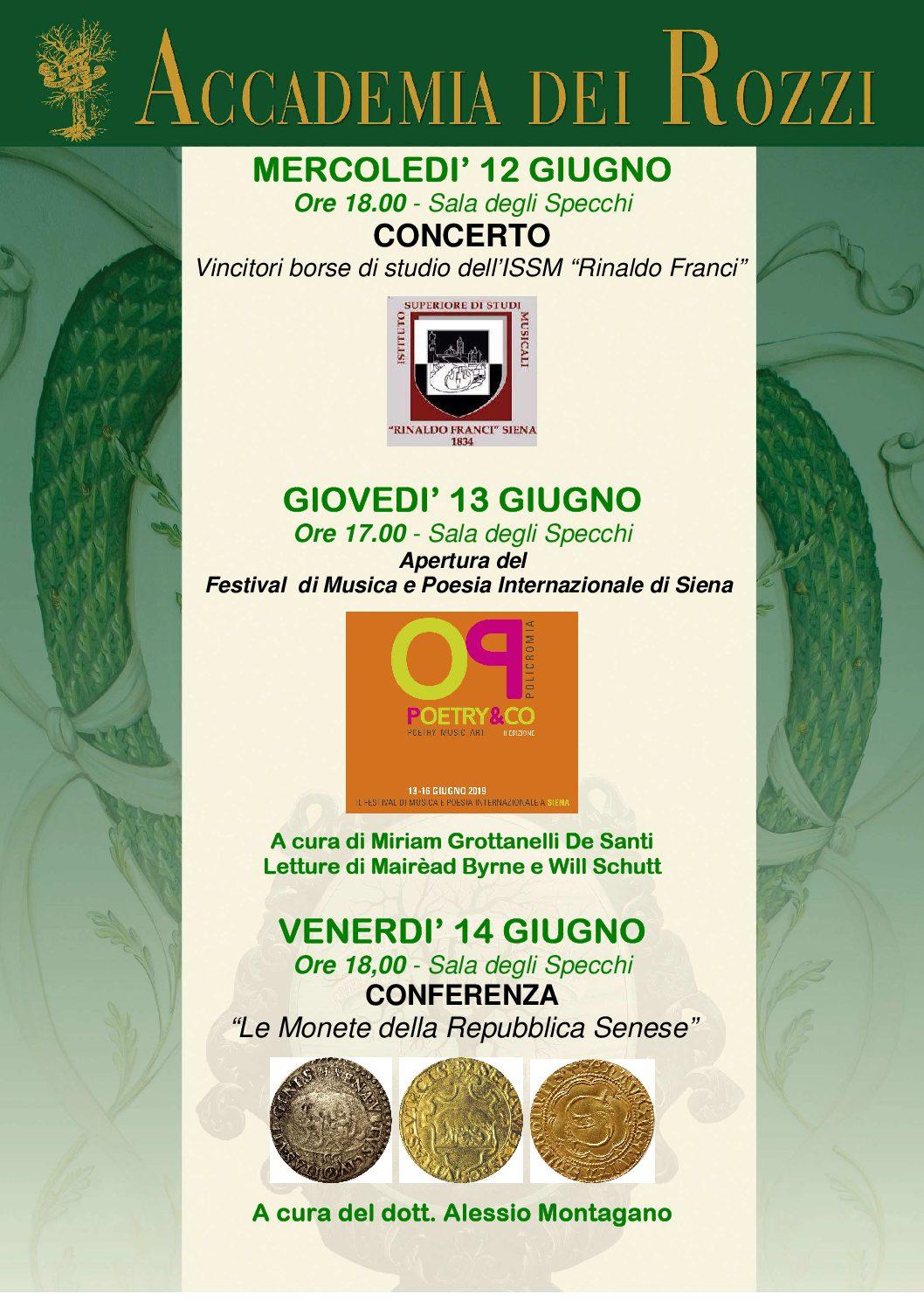 Musica, poesia e storia senese. In mostra alcune antiche monete della Repubblica di Siena